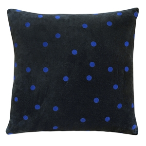 Charcoal spot flock velvet cushion cover  $59 - Castle and Things
