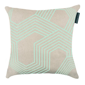 Geo Neon Mint Cushion $69.95 - On the Sly