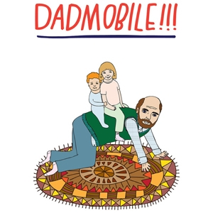 Father's Day Dadmobile card $5.45 by Able and Game on Etsy