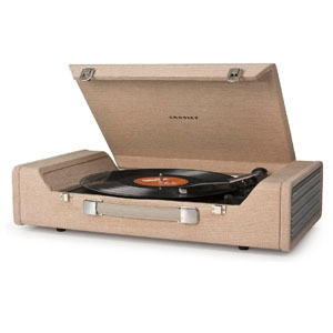 Crosley CR6232A-BR Nomad USB Portable Turntable in Brown, $178.49, from Amazon.