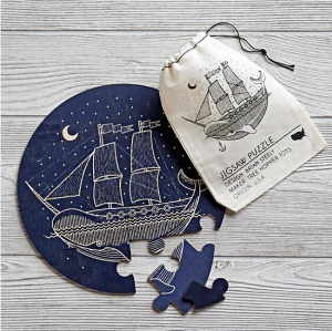 Wooden Ship Puzzle, $14.95, from The Land of Nod.