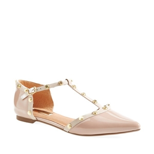 Halogen 'Olson' Leather T-Strap Flats  AU$132.37 - Nordstrom