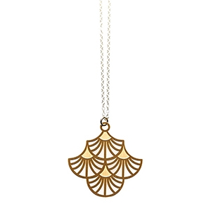 Gold Charleston Small Pendant $49.95 - Polli