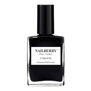 Nailberry varnish in Blackberry £15, from Violet and Percy.