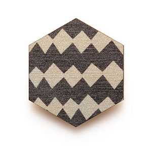 Grey Harlequin Copenhagen Brooch, $29.95, from Polli.
