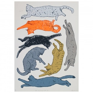 Let Snoozing Cats Lie Print £175 - Howkapow