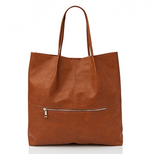 UNSTRUCTURED ZIPPER TOTE $59.95 - Sportsgirl