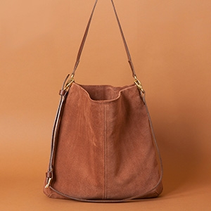 Honey - Dark Tan suede bag £342 - Mimi Berry