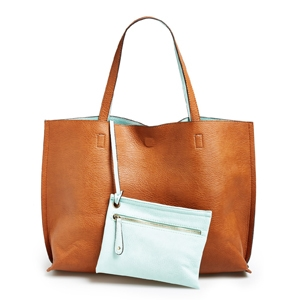 Reversible Faux Leather Tote & Wristlet $71.23 - Nordstrom