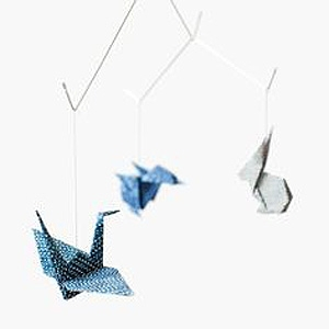 Baby zoo origami mobile $54.69 by Kidivist/Etsy