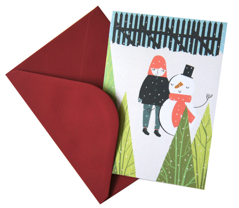 Alice Potter Christmas card via WeeBirdy.com