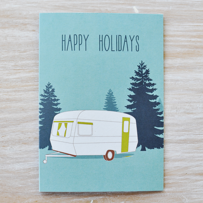 Caravan-Card by Fox and Beau via WeeBirdy.com
