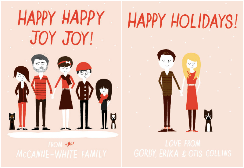 Ello There personalised Christmas cards via WeeBirdy.com