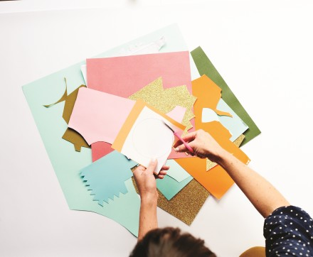How to make a giant confetti wall by Beci Orpin