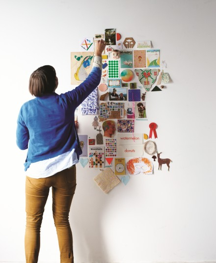 Find and Keep inspiration wall by Beci Orpin