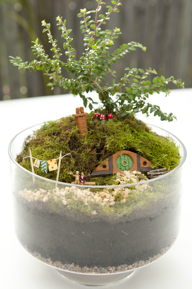 Good Hobbiton Miniature Garden Via WeeBirdy.com