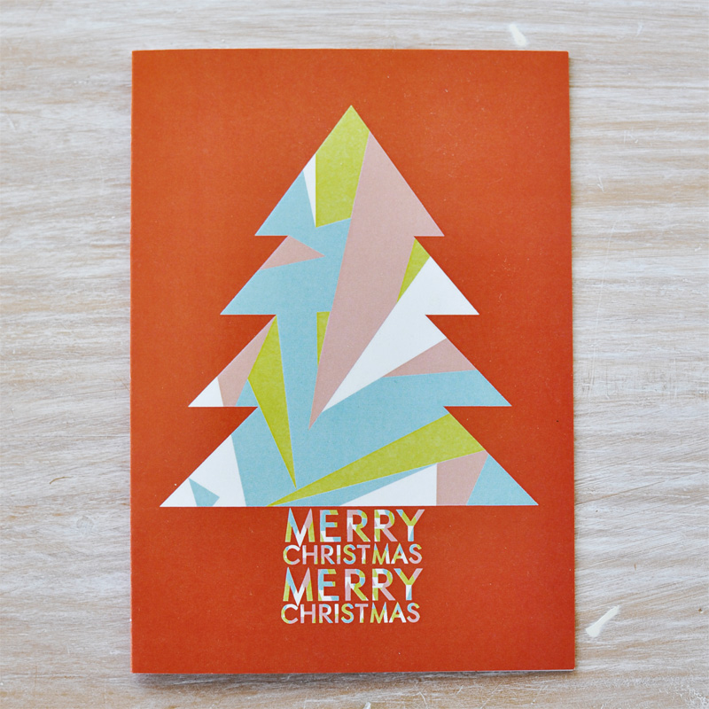 Fox and Beau Christmas cards via WeeBirdy.com