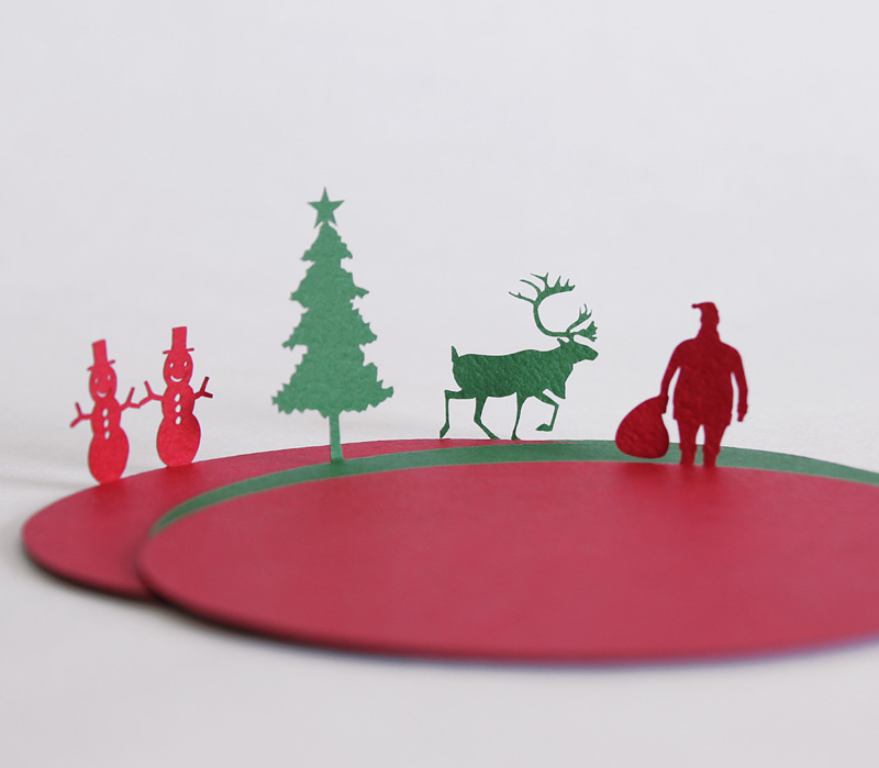 Christmas coasters by Uponafold via WeeBirdy.com