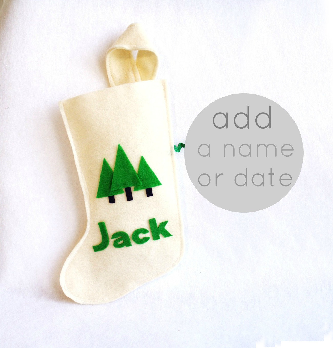 Personalised Christmas stocking by RikRak via WeeBirdy.com