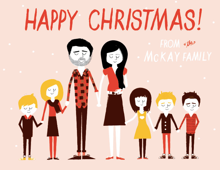 Ello There Christmas Cards via WeeBirdy.com