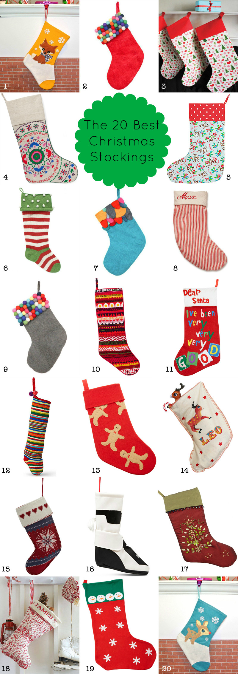 20 Best Stockings 2012 via WeeBirdy.com