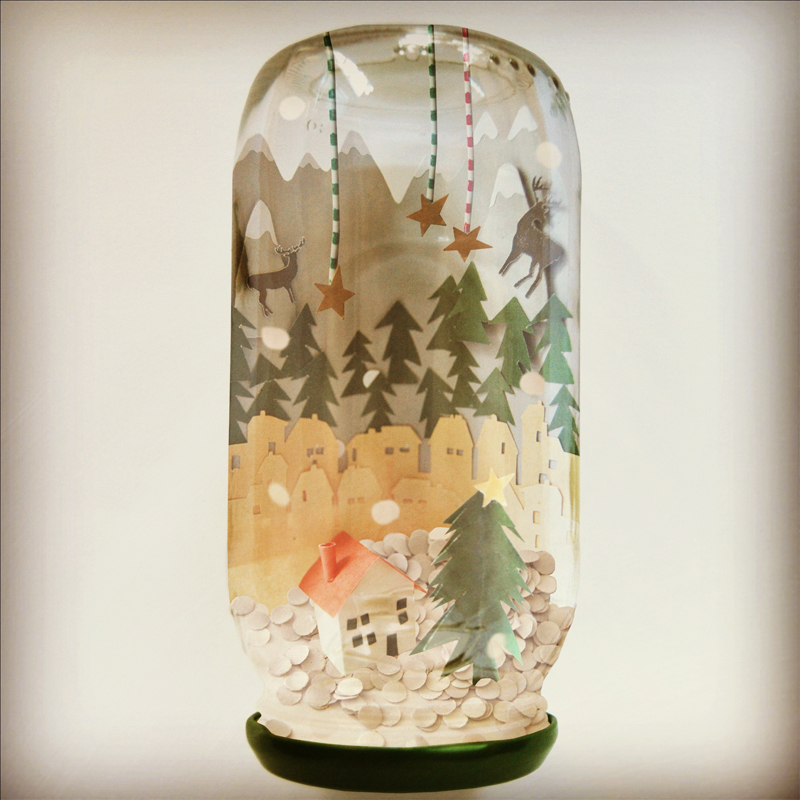 Crafttuts+ Snow Globe Tutorial via WeeBirdy.com