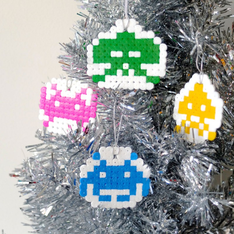 Crafttuts+ Space Invaders Christmas Decorations Tutorial via WeeBirdy.com
