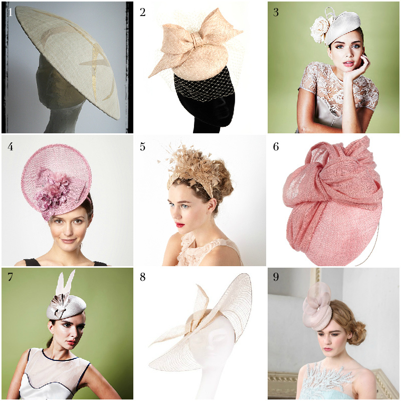 Pastel and cream hats via WeeBirdy.com