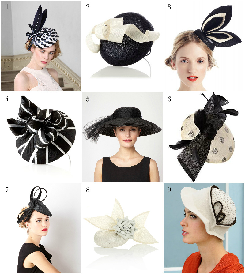 Black and white hats via WeeBirdy.com