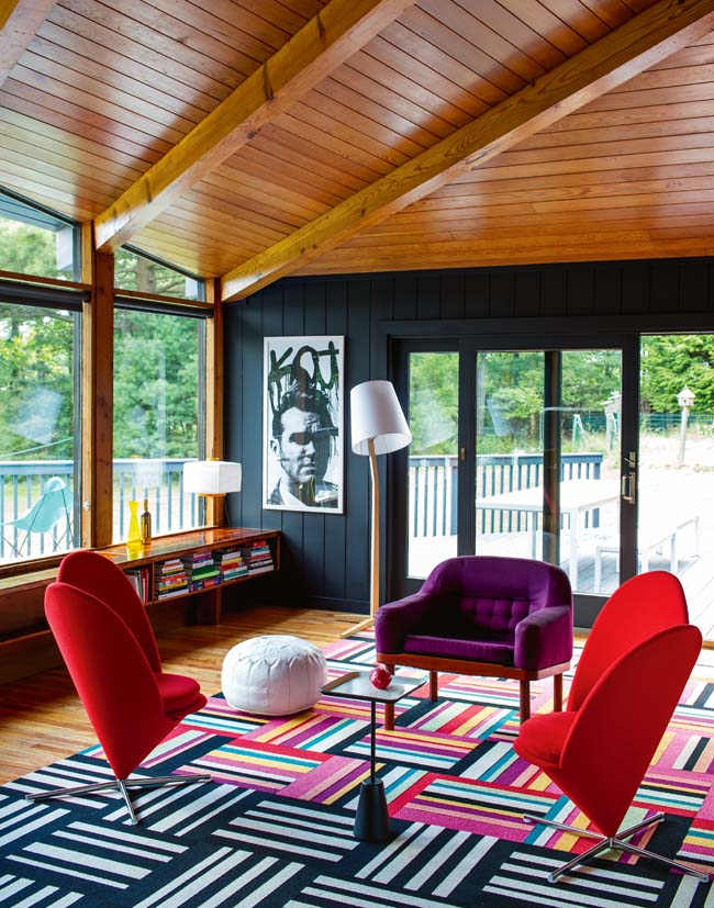 Architectural photographs of Bradford Shellhammer (Founder of FAB.com) summer house in Orange County NY via WeeBirdy.com