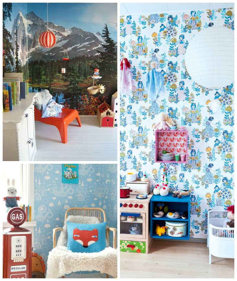 Best Children's Room Wallpapers via WeeBirdy.com