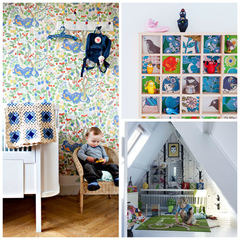 Best Children's Room Wallpapers via WeeBirdy.