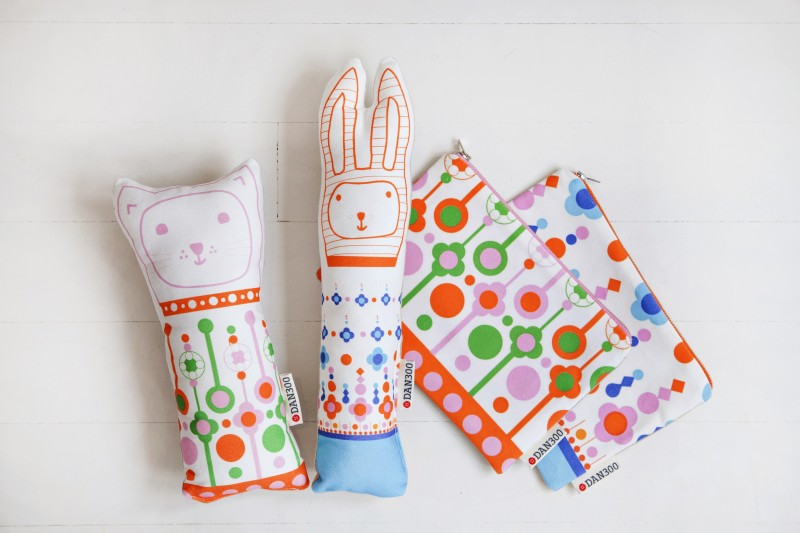Dan300 softies and zip pouches via WeeBirdy.com