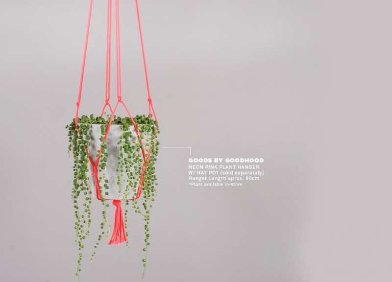 Macrame plant hanger from Goodhood Life Store via WeeBirdy.com