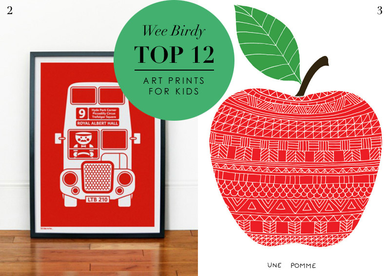 top 12 affordable childrens art prints via weebirdycom - Prints For Kids