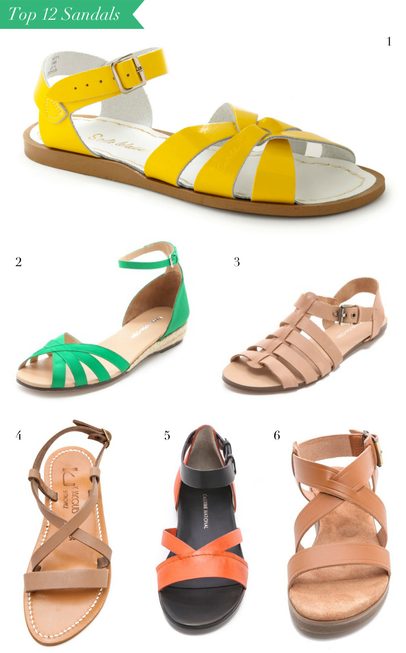 The Top 12 Sandals for Summer by WeeBirdy.com