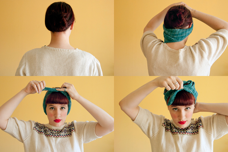 Knit a kerchief tutorial via WeeBirdy.com