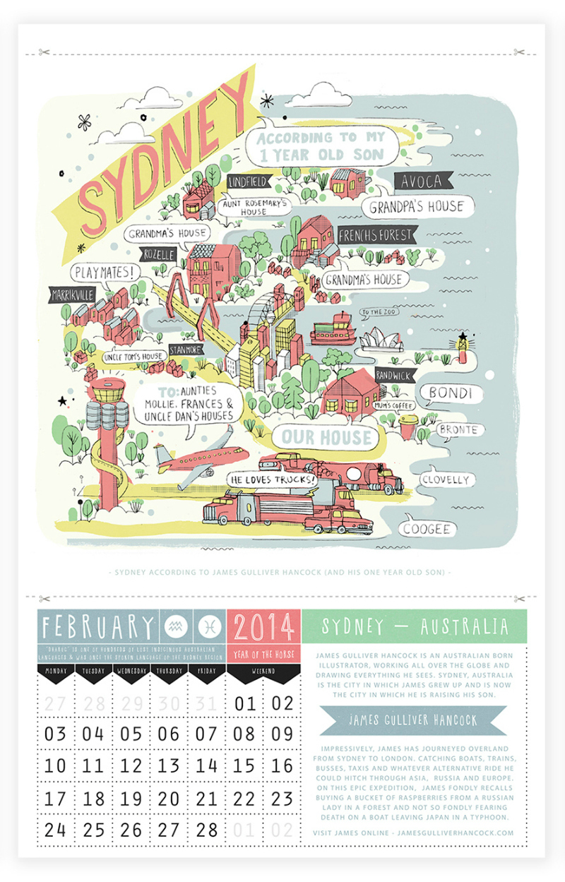Sydney from Ask Alice Calendar 2014-Feb