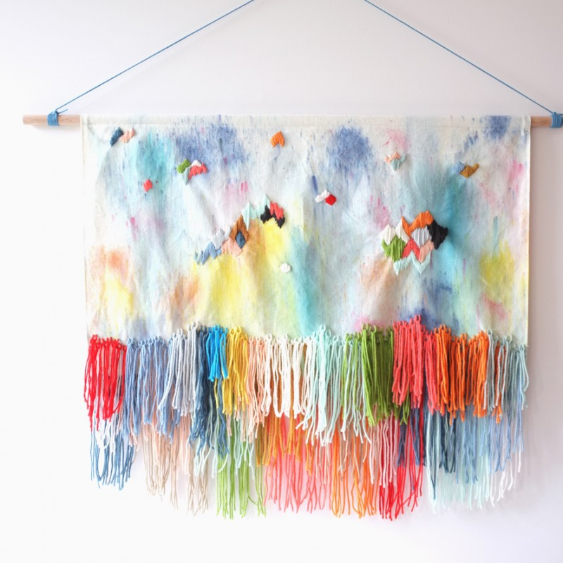 Firework wall hanging by Stampel via Wee Birdy