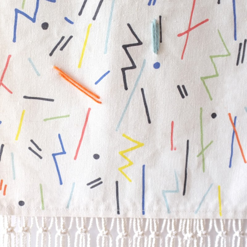 Stampel Memphis Stick wallhanging via Wee Birdy