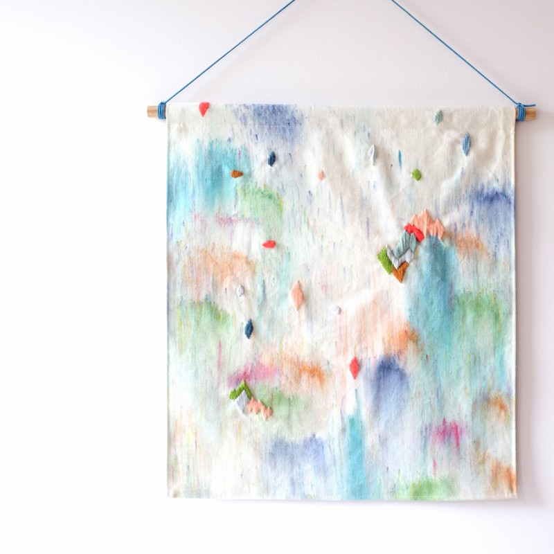Stampel waterfalls wall hanging via Wee Birdy