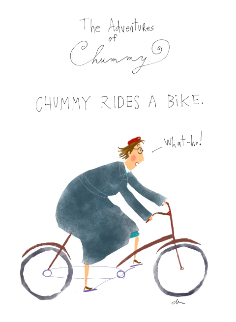 For fans of Call the Midwife: Chummy illustrations by Jana Christy, via weebirdy.com