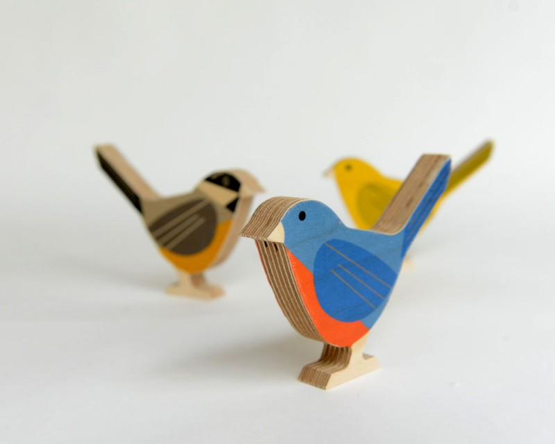 Modern Wood Bird by Studioliscious via WeeBirdy.com