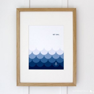 Set Sail Nautical Art Print via WeeBirdy.com