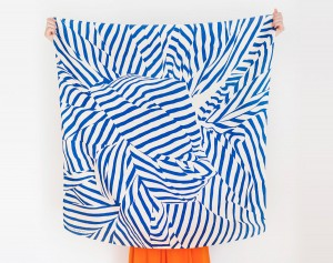 Stripe furoshiki (navy) Japanese eco wrapping textile/scarf, handmade in Japan via WeeBirdy.com