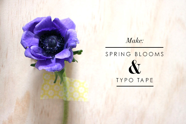 DIY project: Spring blooms and Typo Tape by WeeBirdy.com