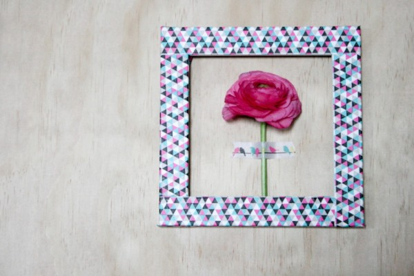Frame fresh blooms on your wall with Typo tape. Photography by Wee Birdy.