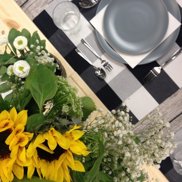 The dinner table setting for Airbnb at IKEA, via WeeBirdy.com