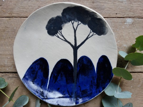 Etsy Design Award Finalist Highlights: ndigo blue mountain stoneware side plate by Mountain Clay via WeeBirdy.com.