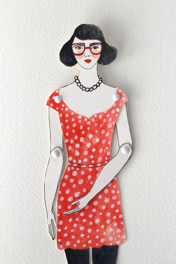 Etsy Design Award Finalist Highlights: Custom portrait paper doll by Little Paper Clouds via WeeBirdy.com.